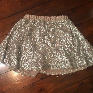 Xs Cherokee sequin gold skirt